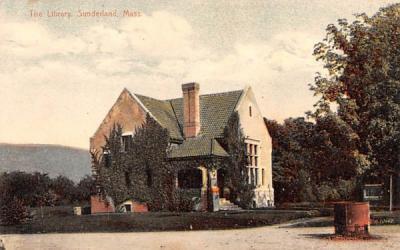 The Library Sunderland, Massachusetts Postcard