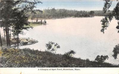 A Glimpse of Spot Pond Stoneham, Massachusetts Postcard