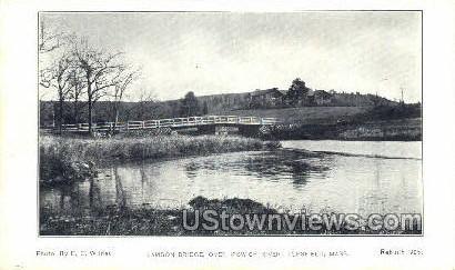 Lamson Bridge - Topsfield, Massachusetts MA Postcard