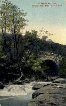 Old Railroad Arch - Berkshire Hills, Massachusetts MA Postcard