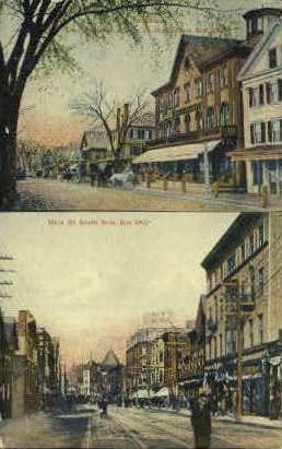 Main St. - Brockton, Massachusetts MA Postcard