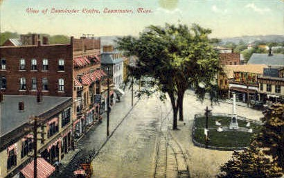 Leominster Centre - Massachusetts MA Postcard