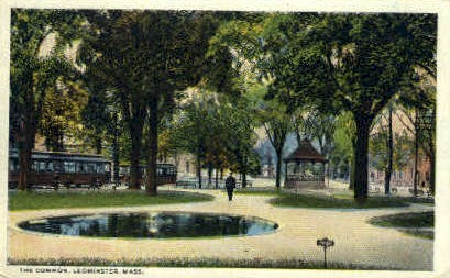 The Common - Leominster, Massachusetts MA Postcard