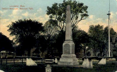 Soldiers Monument - Leominster, Massachusetts MA Postcard