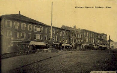 Chelsea Square - Massachusetts MA Postcard