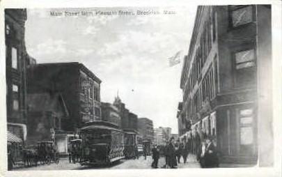 Reproduction - Main St. - Brockton, Massachusetts MA Postcard