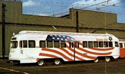 MBTA Car  - Watertown, Massachusetts MA Postcard