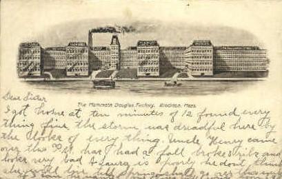 The Mammoth Douglas Factory - Brockton, Massachusetts MA Postcard