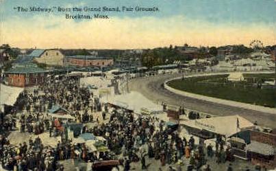 Grand Station, Fair Grounds - Brockton, Massachusetts MA Postcard
