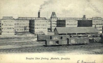 Bouglas Shoe Factory, Montello - Brockton, Massachusetts MA Postcard