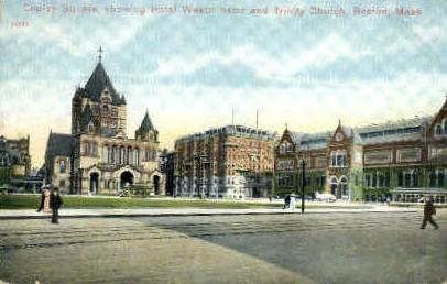 Copley Square - Boston, Massachusetts MA Postcard