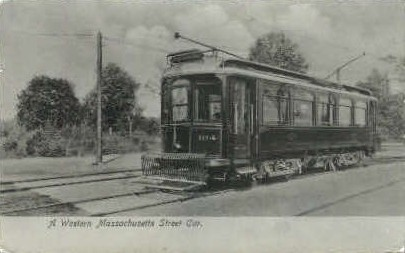 Reproduction - Western Mass. Street Car - Misc, Massachusetts MA Postcard