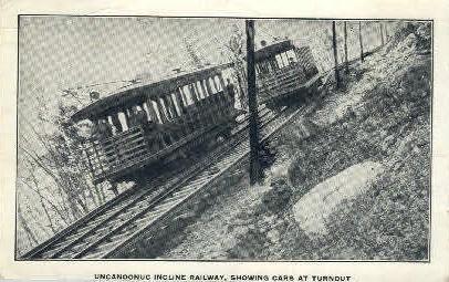 Uncanoonuc Incline Railway - Misc, Massachusetts MA Postcard