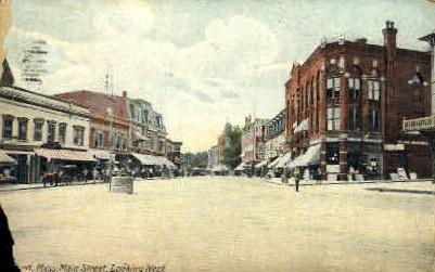 Main St. - Misc, Massachusetts MA Postcard