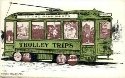 In the Berkshires Trolley Trips - Massachusetts MA Postcard