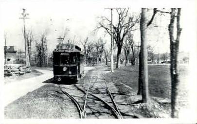 Repr- Boston & Worcester Trolley - Massachusetts MA Postcard