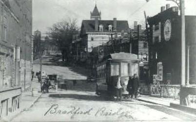 Repro - Bradford Bridge - Massachusetts MA Postcard