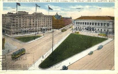 Copley Square, Copley Plaza Hotel - Boston, Massachusetts MA Postcard