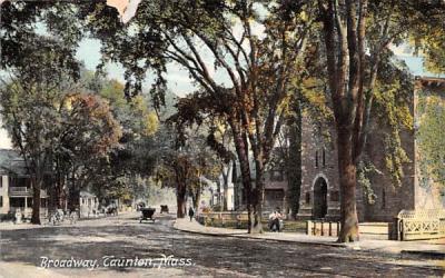 Broadway Taunton, Massachusetts Postcard
