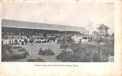 Bristol County Fair Grand Stand Taunton, Massachusetts Postcard