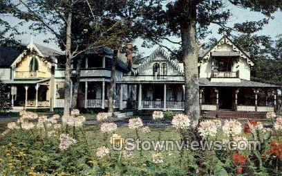 Gingerbread Cottages - Oak Bluffs, Massachusetts MA Postcard