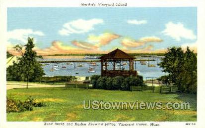 Band Stand & Harbor - Vineyard Haven, Massachusetts MA Postcard