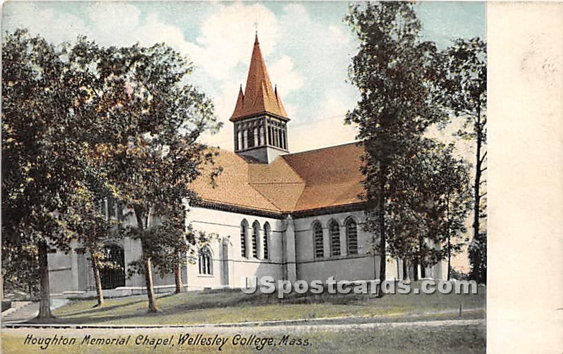 Houghton Memorial Chapel at Wellesley College - Massachusetts MA Postcard