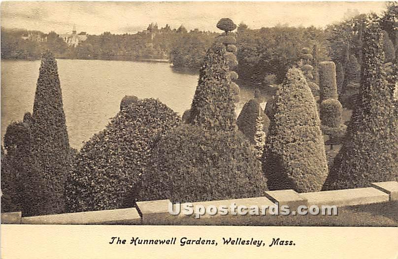 The Hunnewell Gardens - Wellesley, Massachusetts MA Postcard