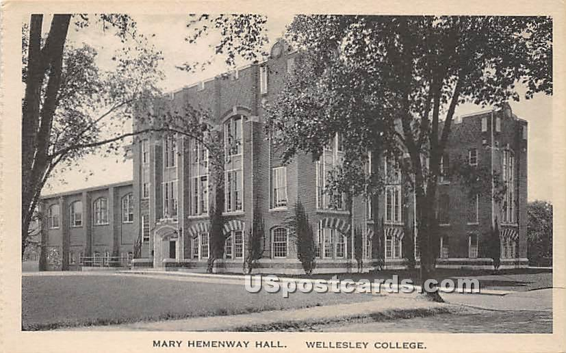 Mary Hemenway Hall at Wellesley College - Massachusetts MA Postcard