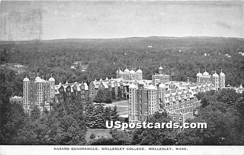 Hazard Quardrangle at Wellesley College - Massachusetts MA Postcard