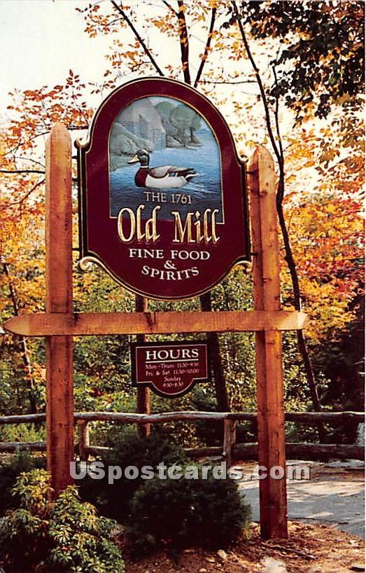 The Old Mill 1761 - Westminster, Massachusetts MA Postcard