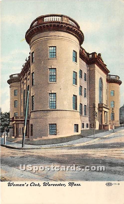 Woman's Club - Worcester, Massachusetts MA Postcard
