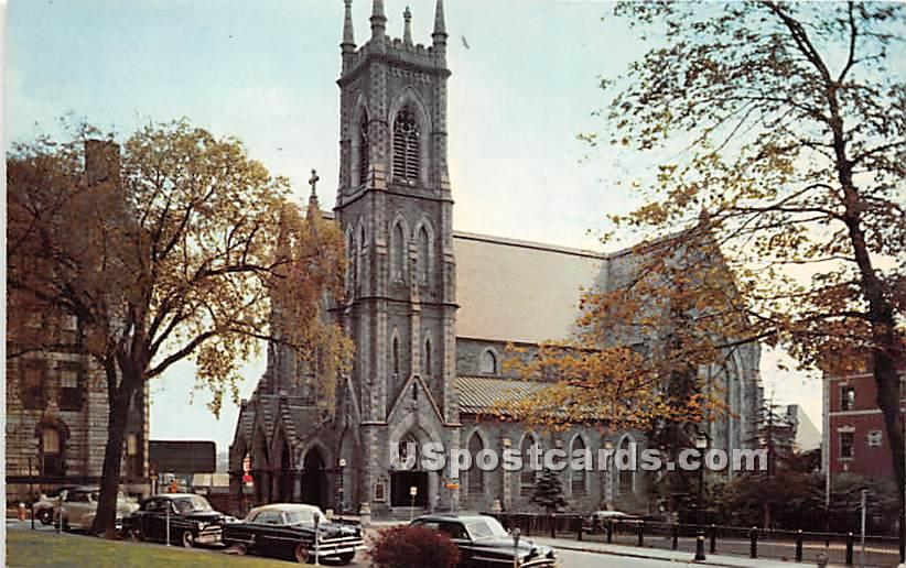 St Paul's Cathedral - Worcester, Massachusetts MA Postcard