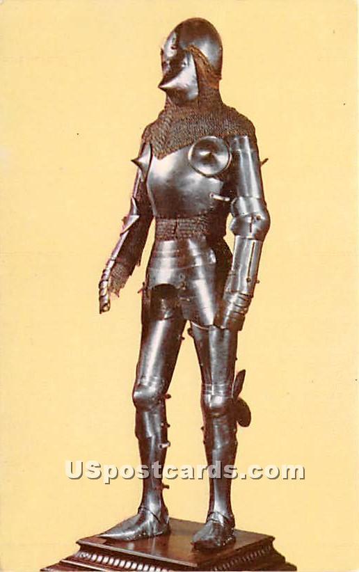 Transitional Armor German 1430 - Worcester, Massachusetts MA Postcard
