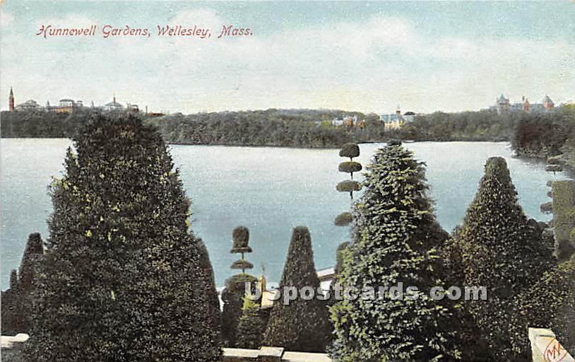 Hunnewell Gardens - Wellesley, Massachusetts MA Postcard
