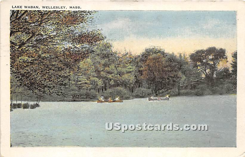 Lake Waban - Wellesley, Massachusetts MA Postcard