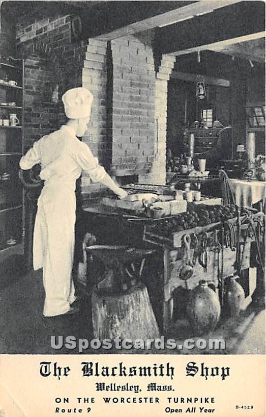 The Blacksmith Shop - Wellesley, Massachusetts MA Postcard
