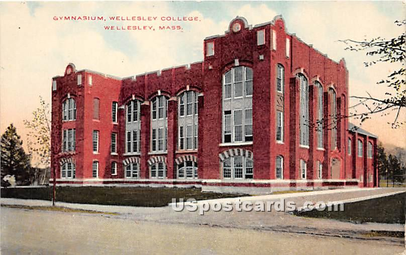 Gymnasium at Wellesley College - Massachusetts MA Postcard