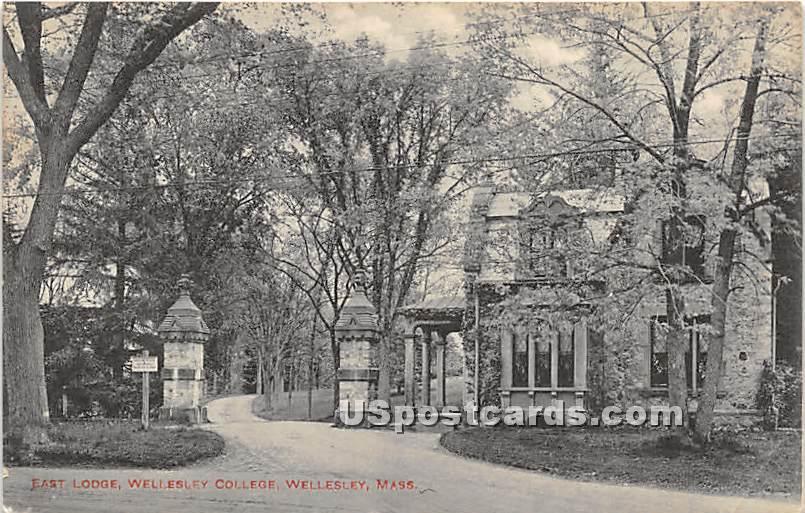 East Lodge at Wellesley College - Massachusetts MA Postcard