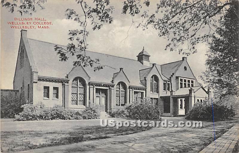 Billings Hall at Wellesley College - Massachusetts MA Postcard