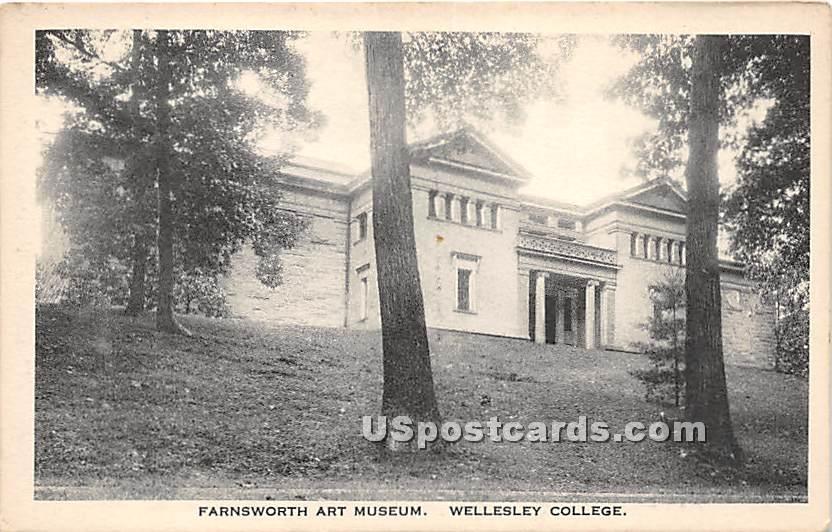 Farnsworth Art Museum at Wellesley College - Massachusetts MA Postcard