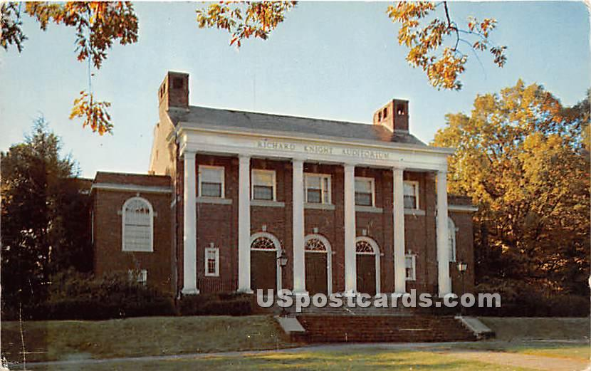 Richard Knight Auditorium at Babson Insitute of Business Administation - Wellesley, Massachusetts MA Postcard