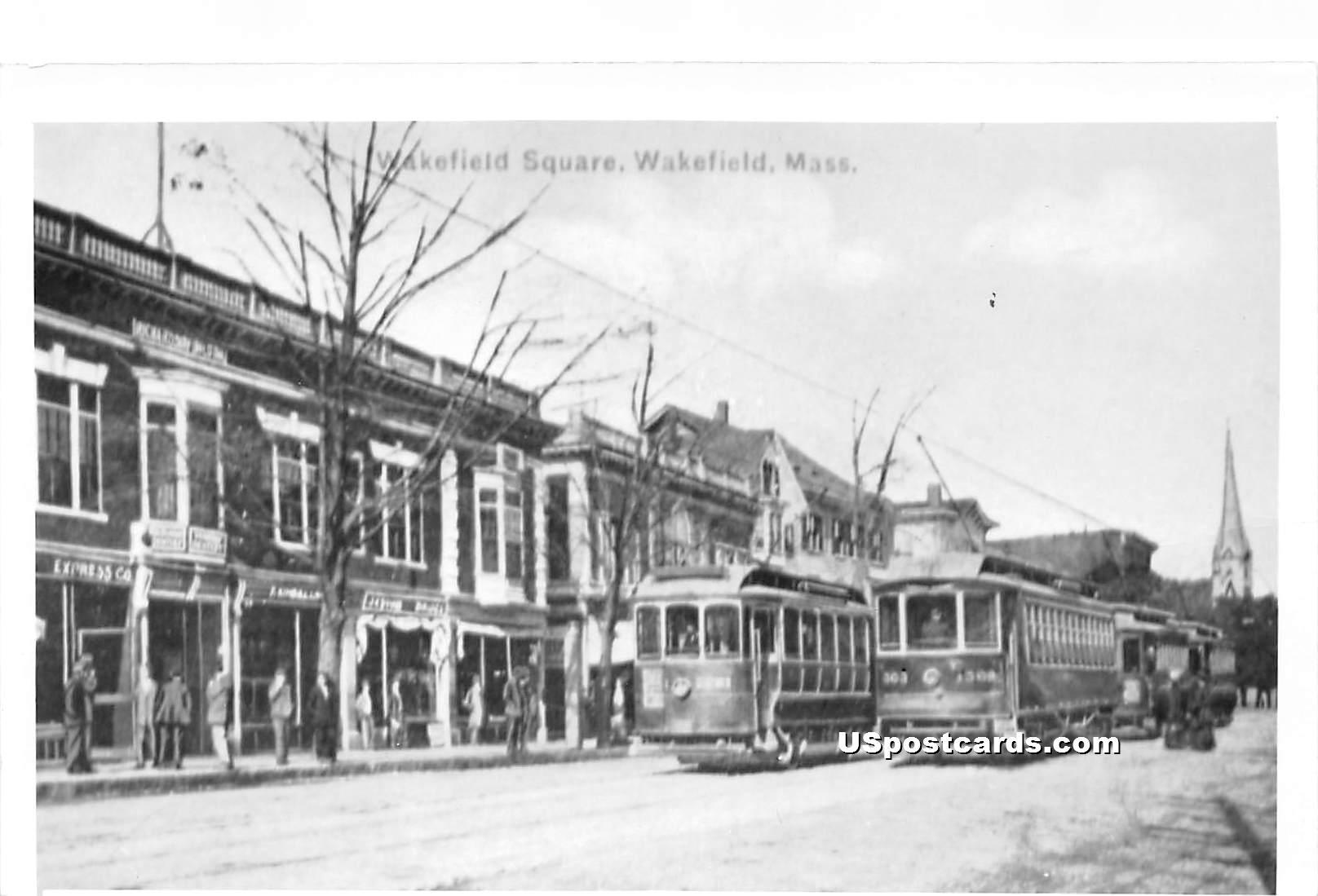 Wakefield Square - Massachusetts MA Postcard