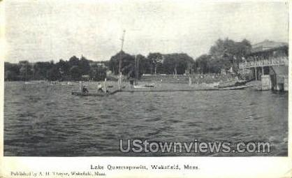Lake Quannapowitt - Wakefield, Massachusetts MA Postcard