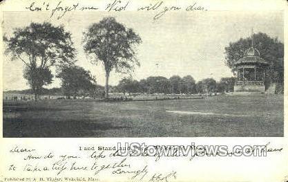Band Stand & Park - Wakefield, Massachusetts MA Postcard