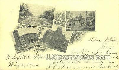 Wakefield, Massachusetts, MA Postcard