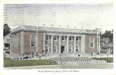 Beebe Memorial Library - Wakefield, Massachusetts MA Postcard