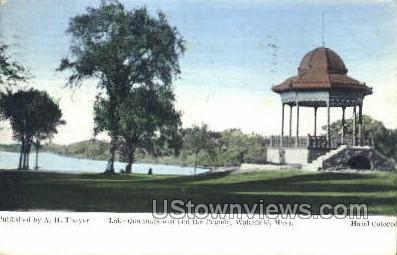 Pagoda, Lake Quannapowitt - Wakefield, Massachusetts MA Postcard