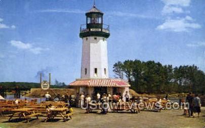 Hawkes Point Light House - Wakefield, Massachusetts MA Postcard