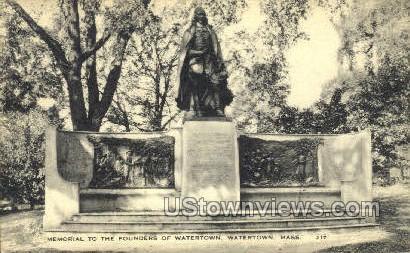 Founders of Watertown - Massachusetts MA Postcard